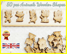 50 Wooden Animal shapes Craft Scrapbooking Ply Wood gift, Cut, Owl, Squirrel MDF