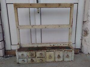 Transilvania Display Antique Vintage Kitchen Pine Pot Pan Utensils Rack storage