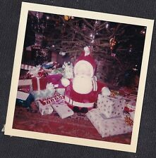 Vintage Photograph Santa Claus Doll & Gifts / Presents Under Christmas Tree 1964