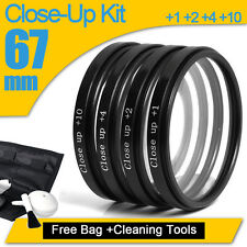 67mm Lens Filter Kit Macro Close Up + Filter Pouch For Nikon Canon Tamron Sony