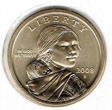 2008-D $1 Mint Set Uncirculated Satin Finish Sacagawea Dollar Coin!
