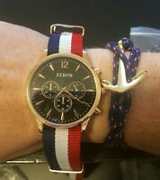 Mens watch rose gold with free gold anchor bracelet