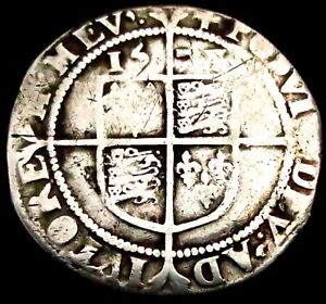 W094: 1578 Elizabeth 1st Hammered Silver Sixpence, im Greek Cross, Spink 2572