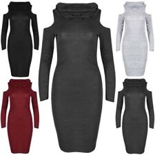 Acrylic Long Sleeve Stretch Dresses for Women