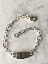 "925 Sterling Silver Baby Boy/Girl ID Christening Bracelet, Length 5.5"" New G2599"