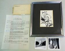 NEW LISTINGRed Ryder Sketch Contest Winner Photo and Letter Framed 1952 Fred Harman Comic Art