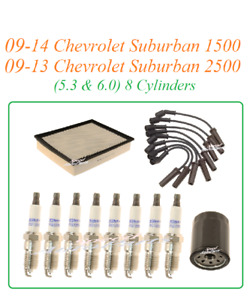 Tune Up For 09-14 Chevrolet Suburban 1500-2500  V8 : Spark Plugs Wire set Air