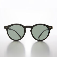 Black Round Unisex Classic Atticus Finch Vintage Sunglass - Mason