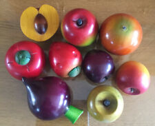 Decorative Wooden Fruit And Vegetables x 9