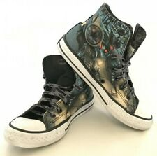 6a62a3d6953d31 Batman Black Converse Chuck Taylor All Star Youth Size 3 DC Comic Hi Top  Shoes