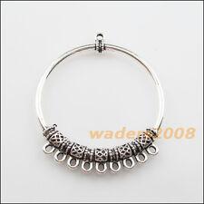 2 New Charms Tibetan Silver 1-9 Round Circle Pendants DIY Connectors 47x56mm