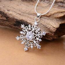 1 stk Frauen Schöne Cubic Snowflake Schnee Halskette Kette Collier Strass HOT