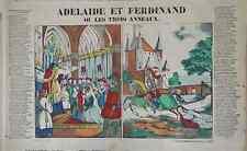 Rare Vintage Imagerie Pellerin print/Adelaide et Ferdinand...INV2300