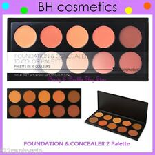 NEW BH Cosmetics FOUNDATION & CONCEALER 2 Palette-Medium/Dark FREE SHIPPING Two