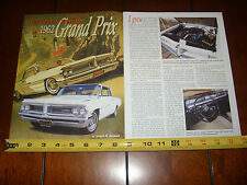 1962 PONTIAC GRAND PRIX THE PRIDE OF - ORIGINAL ARTICLE
