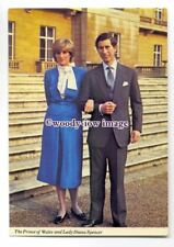 pq0039 - Princess Diana & Prince Charles after Engagement announced - postcard