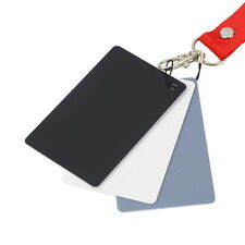 New 3 in 1 Digital White Black Grey Balance Cards Set 18% Gray Exposure Card USF