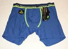 Jockey Performance Mens Dark Blue Dry Impact Mid Length Trunk Brief Size S New