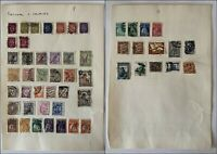 2 x Vintage Pages of Hinged Mixed Stamps PORTUGAL AND COLONIES