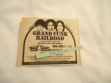 Grand Funk Railroad KRLA Anaheim Convention Center CA 1970 newsprint ad
