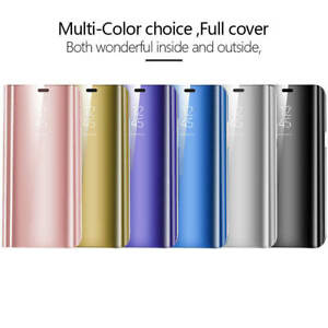 New Huawei P20 Lite Mate P30 Pro Smart View Mirror Leather Flip Stand Case Cover