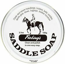 Fiebing's Saddle Soap White 3.5 oz | Polish and Clean Leather | Revives Color