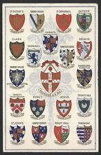 Arms of the Cambridge University Colleges. 1910 to Crypt Grammar School Glos.