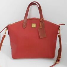 Dooney & Bourke Red Leather Convertible Satchel Shoulder Bag