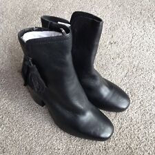 Hush Puppies Black Leather Boots UK4