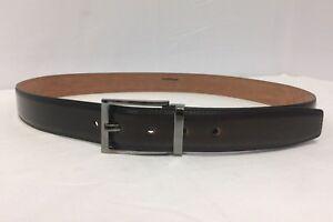 Salvatore Ferragamo Brown Burnished Leather Square Buckle Belt Size 42 $295.00