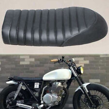 Black Cafe Racer Motorcycle Hump Seat Saddle For Suzuki GS Yamaha XJ Honda CB""