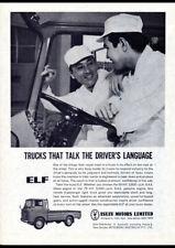 """1963 ISUZU ELF DIESEL TRUCK AD A2 CANVAS PRINT POSTER 23.4""""x16.5"""""""