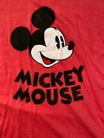 Disney Original Mickey Mouse Women's Red Tee Shirt Medium by Cotton On EUC