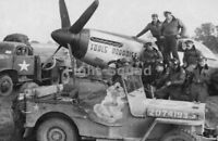 WW2 Picture Photo France 1944 US Pilots of 380th Squadron P-51D Mustang 2708