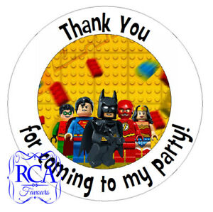 24 x Kids Birthday Thank You for coming to my party 45mm Circle Stickers LS