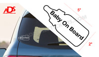 BABY ON BOARD Bottle Car Sticker Vinyl Window Decal Safety Sign Babies #129