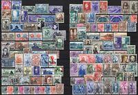 #672 - Repubblica - Lotto di 129 francobolli, 1951/55 - Usati