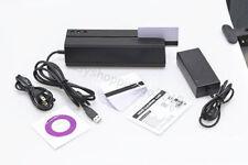 New MSRE206 Magnetic Card Reader/Writer Compatible With MSR206 USB Hi-co3 tracks