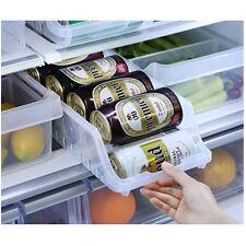 New Fridge Can Storage Tray Holder Clear Organizer Kitchen Refrigerator Can Rack