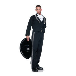 Mariachi Adult Costume Mexican Singer Band Mens Performer Black Cosplay Outfit