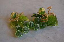Magnifique décoration de table Grappe de raisin en verre de Murano