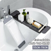 Extendable Bathtub Caddy Bath Tub Shelf Rack Tray Bathroom Organiser Holder