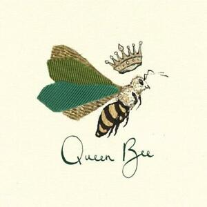 4 individual Queen Bee decoupage napkins, mixed media, craft