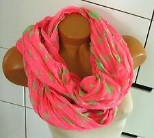 Schlauchschal Loop Schal Tuch Halstuch Loopschal Neon Star Sterne Pink Grün