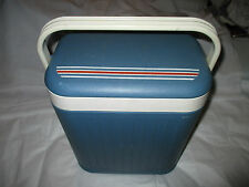 Vintage Stylish Blue White Red Italian Camping Outdoor Cool Box Ice Chest Cooler