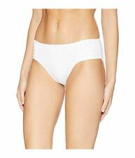 Tommy Bahama Pearl High-Waist Side-Shirred White Bikini Bottom 8220 Size Large