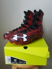 Under Armour Highlight Lux Mc Football Cleats Size 10 Black/Red 3020165-061