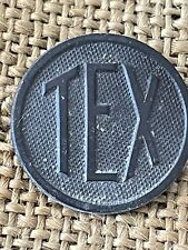 WWI TEX Collar Disc TEXAS Pin Back Original