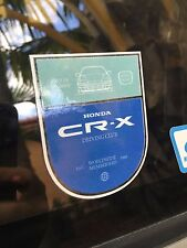 Honda CR-X Driving Club Custom Decal EF8 EF7 88-91 EF ED9 JDM CRX Si HF DX SiR