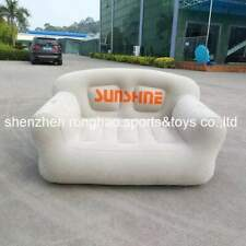 PVC Inflatable Living Room Sofa Lounge Air Chair With Cup Holder - Indoor Outdoo